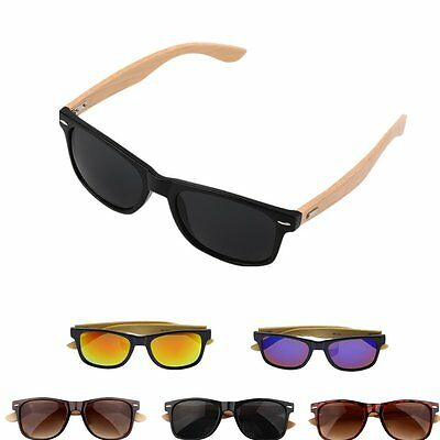 Bamboo Sunglasses Wooden Wood Mens Womens Retro Vintage Summer Glasses SY
