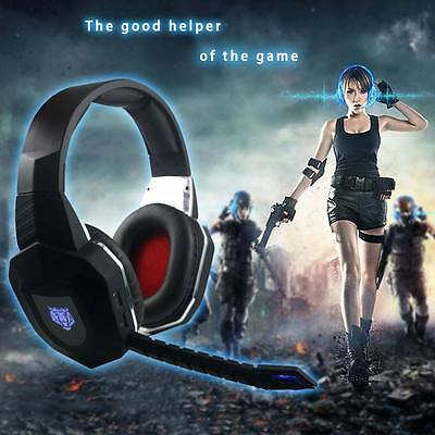 Fiber-optical Stereo Wireless Gaming Headphone W/ Mic for Xbox One/360 PS3/4 AU