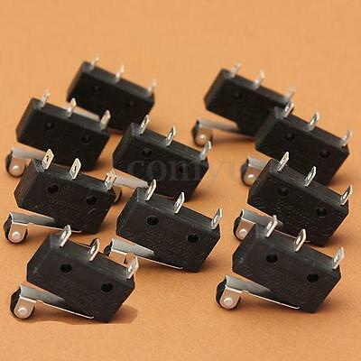 10x 5A AC 250V Roller Lever Arm Terminal Microswitch Limit Open/Close KW11-3Z