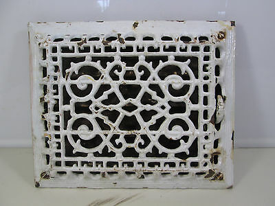 Vintage Cast Iron Wall Grate w/Damper Scroll Pattern  ASG#14