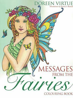 Messages From The Fairies Colouring Book by Doreen Virtue NEW