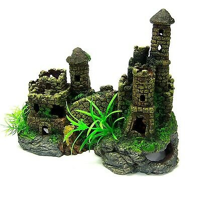 Towers Castle Cave Aquarium Ornament Fish Tank Bowl Decorative Decoration Decor