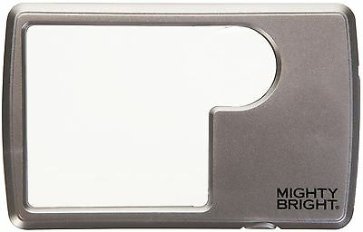 Mighty Bright Led Lighted Wallet Magnifier Silver
