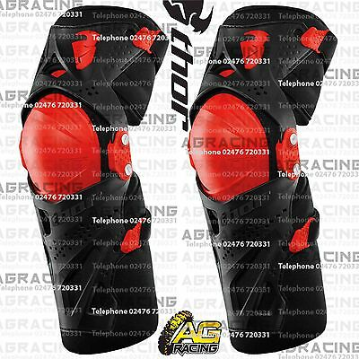 Thor Black Red Force XP Knee Guards Adult Protection Large/X-Large Motocross MX