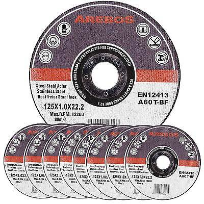 100 x Metal Cutting Discs 1mm Ultra Thin 125mm Angle Grinder Disc Steel