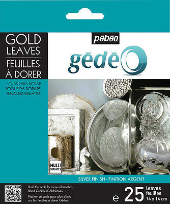 Pebeo Gedeo Gilding Foil Leaves 25 Sheets - Gold or Silver