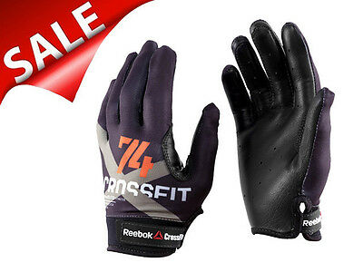 Reebok Men's CrossFit Gloves Gym Workouts Leather Fitness Weight Lifting Size: S