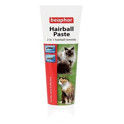 Beaphar Cat Kitten Hairball 2 in 1 Paste Snack Treat 100g