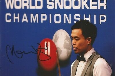 (1) A 6 x 4 inch photo. Personally signed by Snooker player Marco Fu.