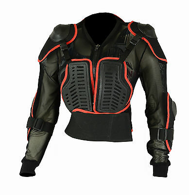 Kids Children Body Armour Motocross Jacket Chest Spine Elbow Shoulder Protection
