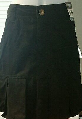 Skirt Girls School Uniform Pleated Scooter with Shorts Black Size 7- NWT