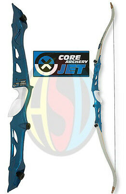 "Archery Core Jet Blue Take Down 66"" Recurve Bow Pack, Right Handed, 20 - 36 LBS"