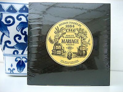 Mariage Freres Earl Grey French Blue Flowers Cotton Muslin Satchet 30 Tea Bags