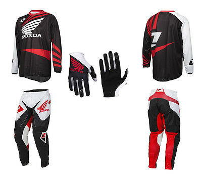 One Industries Honda Atom Pants / Jersey / Gloves Combo Kit! Blowout Pricing!