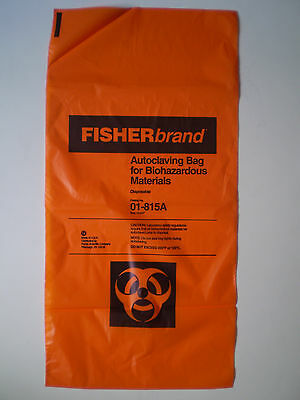FISHERbrand Autoclaving Bag for Biohazardous Materials, 01-815A 01815A NEW $68