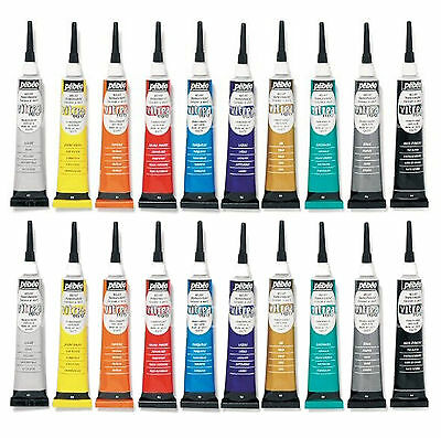 PEBEO VITREA 160 GLASS & METAL PAINT TRANSPARENT GLOSS RELIEF OUTLINER 20ml