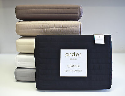 NEW Ardor Boudoir Quilted Valance Bed