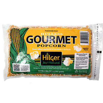 Hilger AgriNatural Hulless Yellow Popcorn Lot of 12 bags