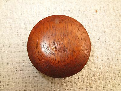 "Antique Pine Button Mushroom Turned Wood Drawer Pull Knob Primitive 1880's 2"" D"