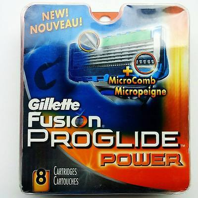Gillette Fusion ProGlide Power - 8 Cartridges - 100% Authentic - Brand New