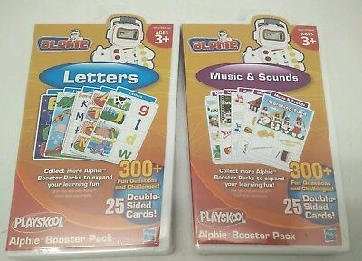 Combo Pack: 2 Playskool Alphie Booster Pack ‑ Letters + Music & Sounds