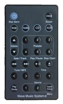 New USBRMT Remote For Bose Wave Radio/CD Music System III AWRCC2 AWRCC3
