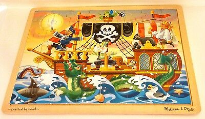 Melissa & Doug Pirate Adventure 48 Piece Wooden Pirate Ship Puzzle 3800 - China