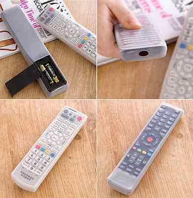 TV Remote Control Dust Cover Holder Storage Bag Silicone Case Skin Shell CA