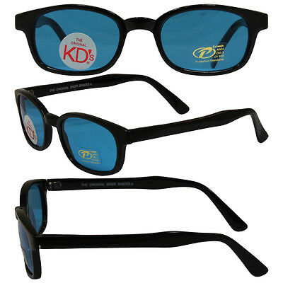 Sons of Anarchy Style Original KD's Biker Sunglasses with Turquoise Lenses