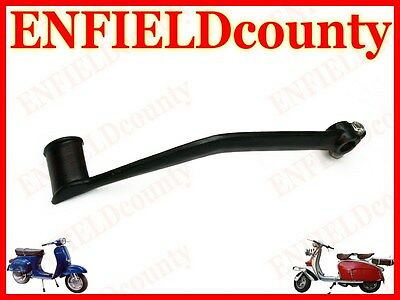 New Vespa Black Powder Coated Kickstarter Lever Pedal Kick Px Lml @uk