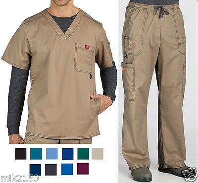 Dickies Mens Scrubs Gen Flex  Set Top 81722 Pants 81003 Choose Color & Sizes NWT