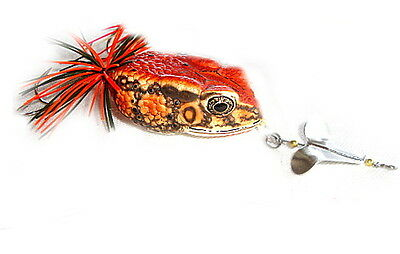 Giant Toxic Toad Red Handmade Frog Bait Buzzbait Fishing Lure 20G 6.5Cm