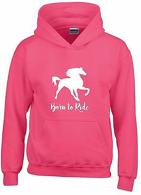 Born To Ride ~ Horse Pony Showjumping Dressage Showing ~ Sizes 5 - 15 Years