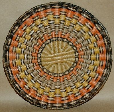 Vintage Hopi Plaque Native American Wicker Basket
