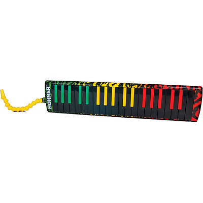New Hohner Melodica Airboard Rasta Tri-color Padded Gig Bag with Strap 37 Key