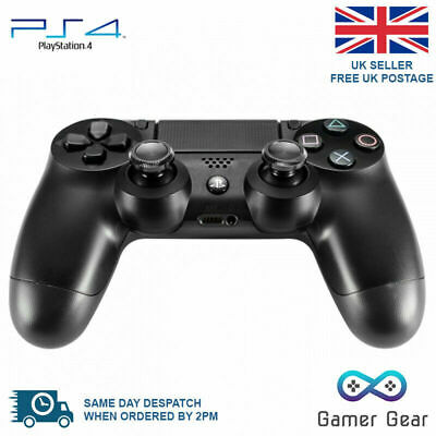 Aluminium Metal Analog Thumbsticks Grip for Sony PS4 Controller - Black x 2
