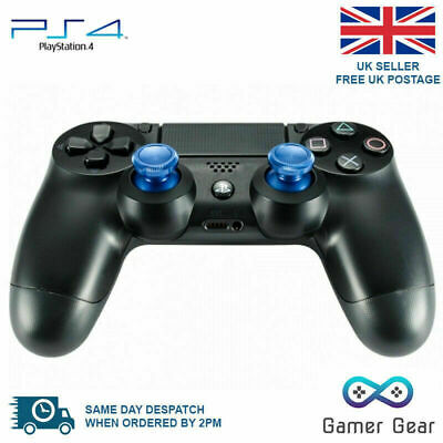 Aluminium Metal Analog Thumbsticks Grip for Sony PS4 Controller - Blue x 2
