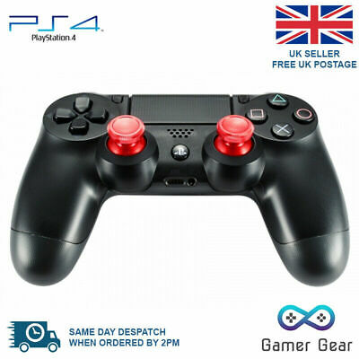 Aluminium Metal Analog Thumbsticks Grip for Sony PS4 Controller - Red x 2