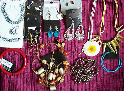 Job lot of quality costume jewellery - 50 items - earrings, necklaces