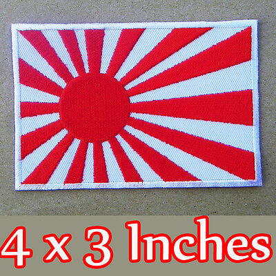 Japan Flag Iron On Patch Japanese Kamikaze Navy Jack Embroidered Wwii Replica