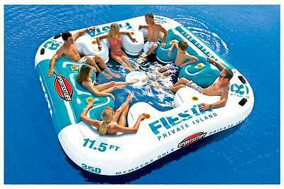 Inflatable Fiesta Island Floating Party River Lake Beach Pool Raft 8 Person NEW!