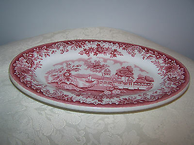 Pink Restaurant Ware Oval  Side / Salad Plate - Empire Crockery Ultra Vetrified
