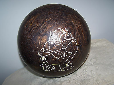 Looney Toons Taz Brown Sparkle Brunswick 7 Lb Bowling Ball - 1999 Warner Bros.
