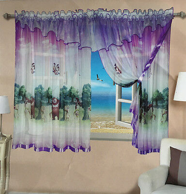 Amazing Voile Net Curtain Ready Made Children's Kids Bedroom Playroom New