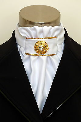 "ERA  ""Regal""  Euro Stock Tie with Gold Piping Trim & Pin"