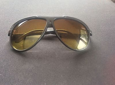Mens Skiing Snowboarding Sunglasses Aviator Eyewear Black Frame Green Lens