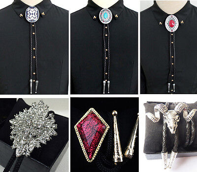 Indian Western Cowboy Bolo Ties Rodeo Dance Shirt Suit Bowtie Bola Tie Necktie