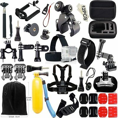 *NEW DELUXE 48-in-1 Camera Accessories Kit for GoPro Hero 4 3 2 1 Includes Case!