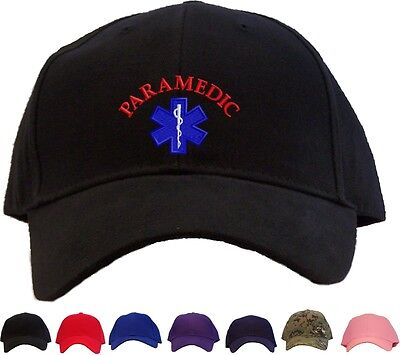 Paramedic Star of Life Embroidered Baseball Cap - Available in 7 Colors - Hat