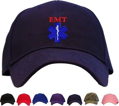 EMT Star of Life Embroidered Baseball Cap - Available in 7 Colors - Hat